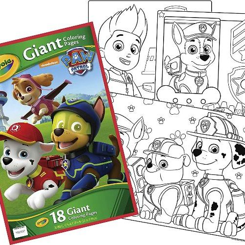 Crayola Giant Colouring Pages Paw Patrol Toy Buzz